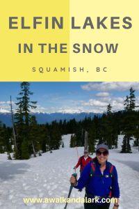 Elfin Lakes in the snow, Squamish trails, BC Canada