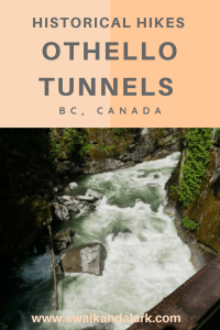 Othello Tunnels - Fantastic canyon views from the trail