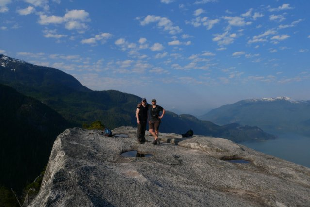 Marc and Tom on the squamish chief first peak