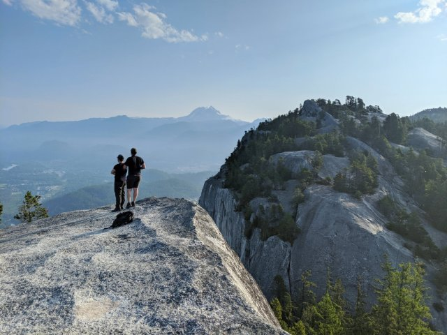 Looking to the squamish chief's second peak
