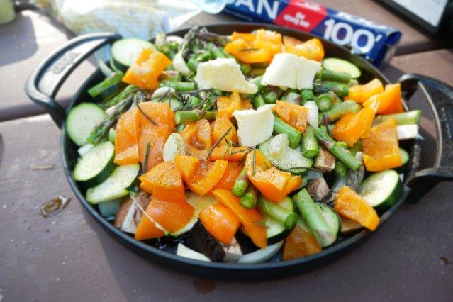Camp food - veggies