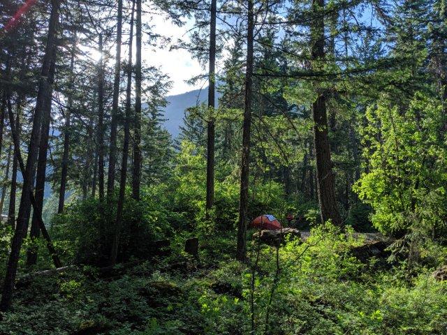 Camping at Nairn Falls