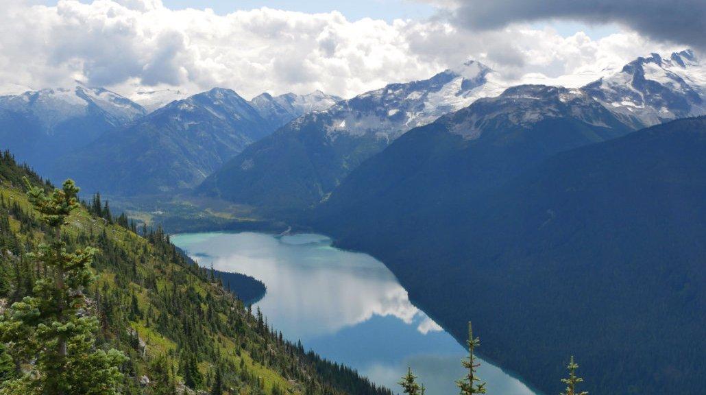 Views down to Cheakamus Lake