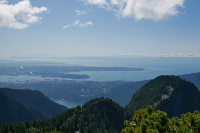 Peeking over Beauty Peak to see Vancouver