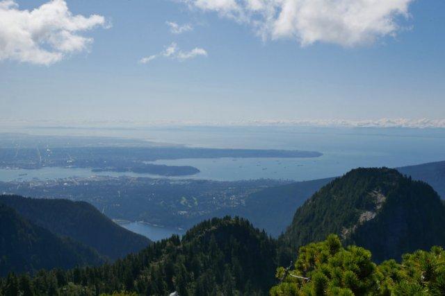 Peeking over Beauty Peak to see Vancouver