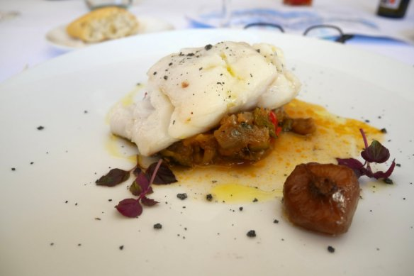 Cod bacalao with ratatouille