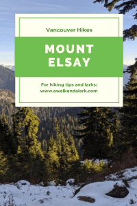Mount Elsay - A great hike near Vancouver