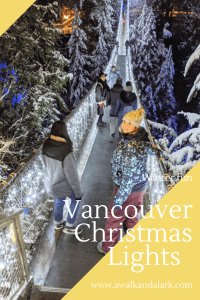 Vancouver winter light displays - Capilano Suspension Bridge and Canyon is lit up for Christmas