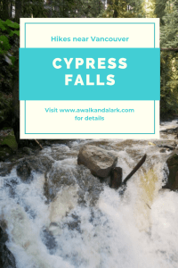 Cypress Falls Park has fantastic waterfalls, old growth trees and a deep canyon. It's a great hike near Vancouver
