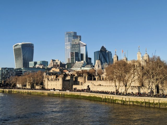 Views from Tower Bridge - the City of London
