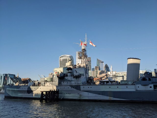 HMS Belfast from the Thames path