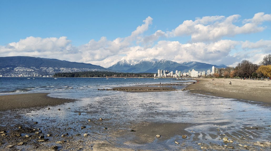 Kits beach view back towards Vancouver