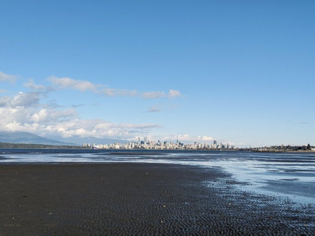 Spanish Banks - out where the sea should be