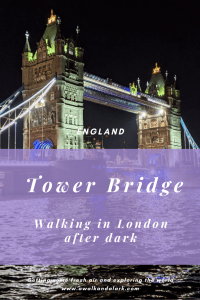 Walk to Tower Bridge at Night - see the London skyline all lit up