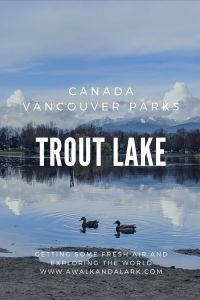 Trout Lake - Vancouver's community parks Canada