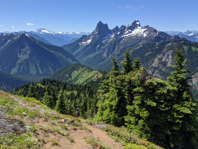 Hozomeen Mountain from Lone Goat Mountain