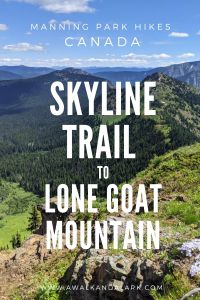 Skyline Trail to Lone Goat Mountain - E.C.Manning Park - BC, Canada