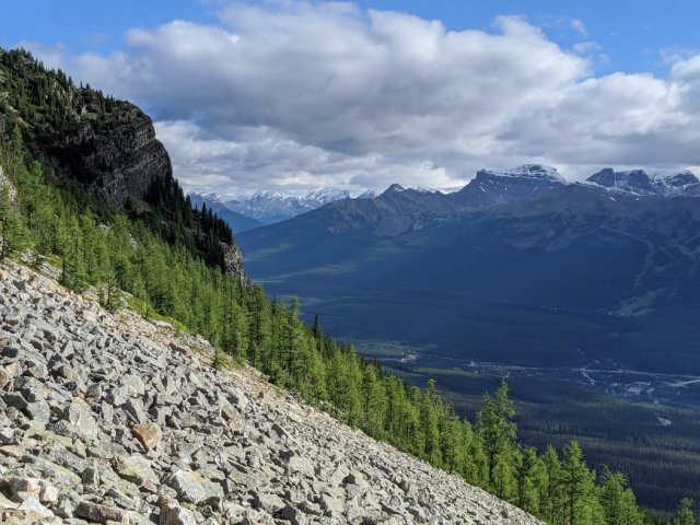 Looking down to Bow Valley