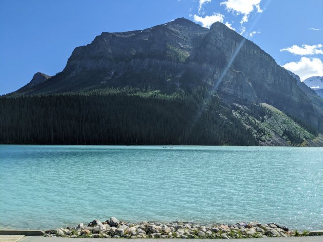Lake Louise and Fairview Mountain at the end of the trail