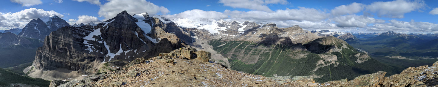 Panorama from Fairview Mountain top