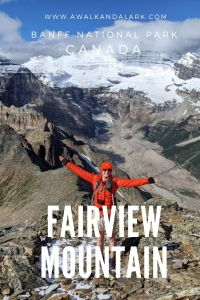 Stunning Glacier views from Fairview Mountain near Lake Louise in Banff