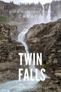Twin Falls trail in Yoho National Park