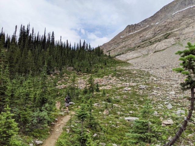 Whaleback Mountain above the trail