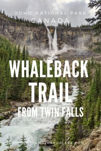 Whaleback Trail from Twin Falls in Yoho National Park