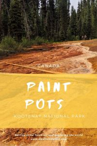 Paint Pots - Colourful geology in Kootenay National Park
