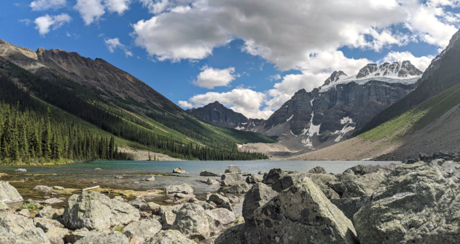 Panorama at Consolation Lakes