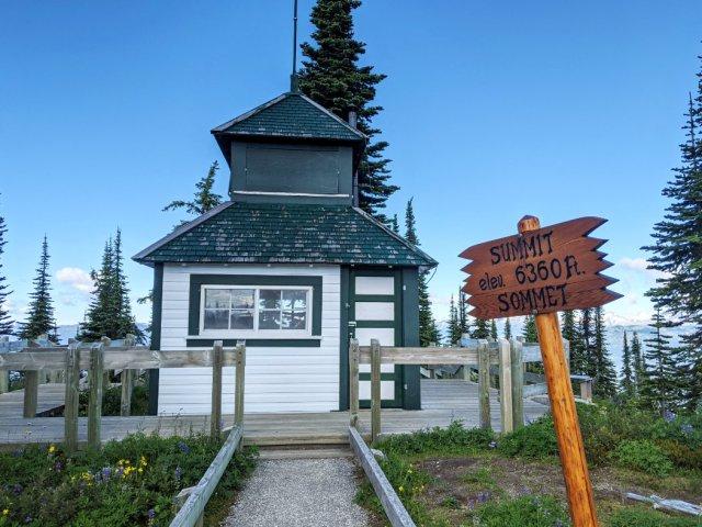 Summit of Revelstoke Mountain - Historic Firetower