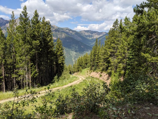 Zig zagging up the trail