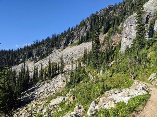 Continue along the Eva Lake trail