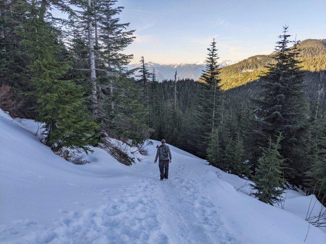 Sliding down Black Mountain
