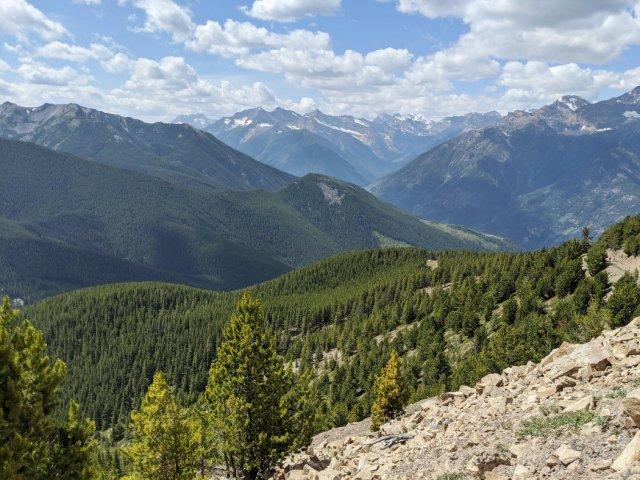 Amazing views from Panorama Mountain Summit trail