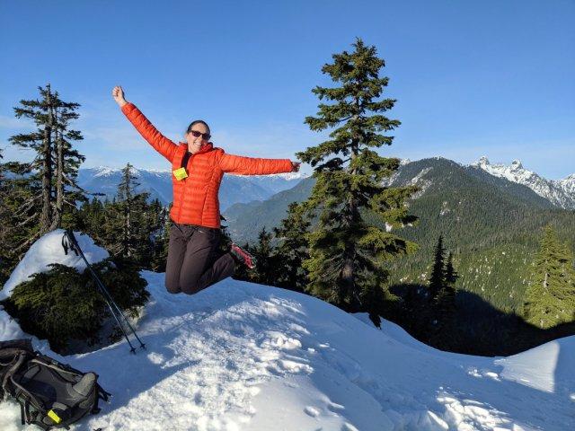Jump shot- Snowshoeing on Black Mountain