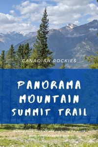 Panorama Mountain Summit - amazing trail in the Canadian Rockies