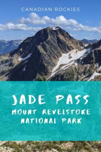 Jade Pass with view to Jade Lakes -Outstanding hike in Mount Revelstoke National Park, Canada