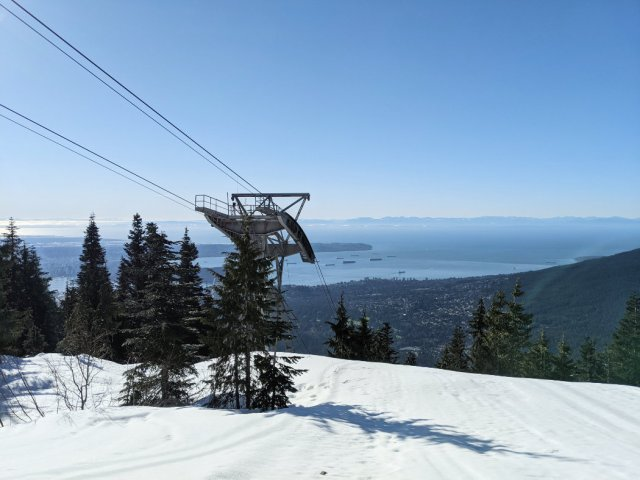Top of the Skyride on Grouse Mountain