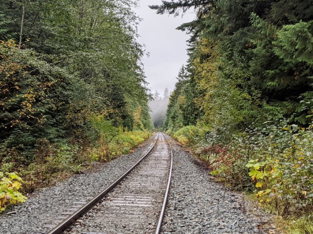 Train line near the path