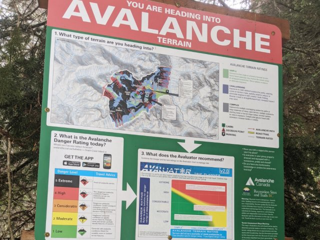 Avalanche map for Marriot Basin and Rohr Lake