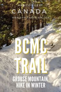 BCMC trail up Grouse Mountain in Vancouver