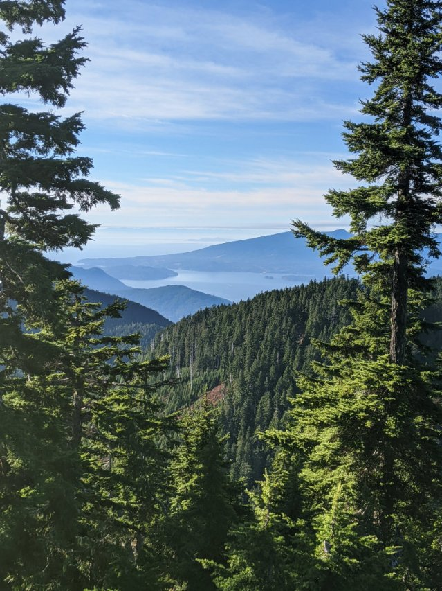 Peeking down from Hollyburn Peak