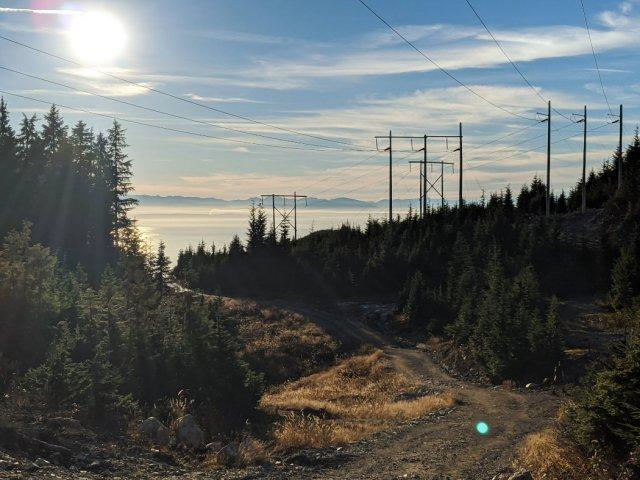Powerline trail views on Hollyburn Peak