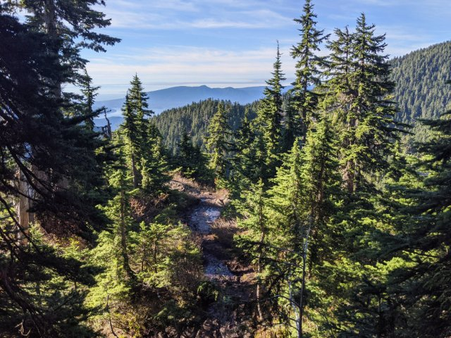 Views down from the trail on Hollyburn Peak