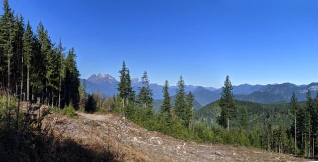 Bear Mountain clear cut Panorama