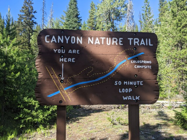 Canyon Nature Trail sign