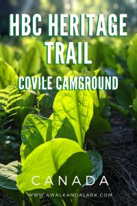 Covile Camp fun hike to a gorgeous campsite - HBC Heritage trail