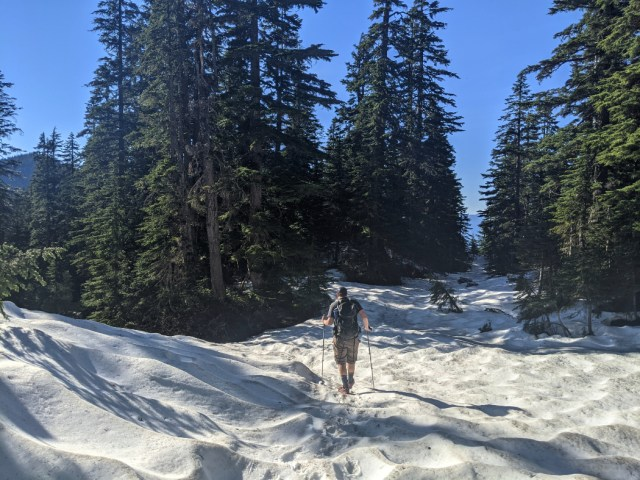 Loads of snow on Mason's Ridge in June