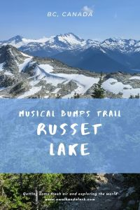 Backpacking in Whistler - Musical Bumps trail to Russet Lake
